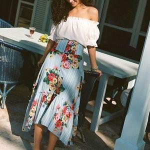 Maeve Anthro | NWOT Claudette Midi Skirt Floral